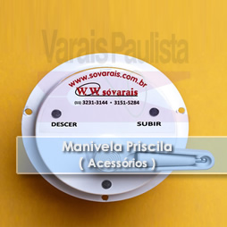 Acessórios – Manivela para varal Priscila – Varais Paulista