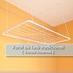 Varais internos Varal Varais Sob medida | Varal de Teto Tradicional – Varais Paulista