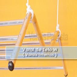 Varais internos | Varal de Teto W – Varais Paulista