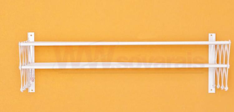 varal sanfonado branco 2 parede | varais externos|varais paulista|Varais Externos