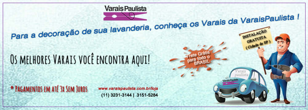 banner decoração lavanderia Varais Paulista