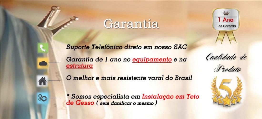 Garantia em varais é na Varais Paulista