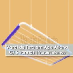 Varais internos | Varal de Teto em Aço 6 varetas Ariana – Varais Paulista