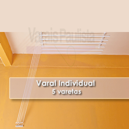Varais internos Varal Varais Sob medida| Varal Individual 5 Varetas – Varais Paulista