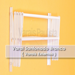 Varal Externo | Varal Sanfonado Branco – Varais Paulista