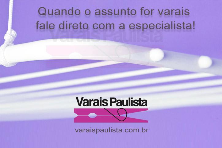 Empresa Varais Paulista - Especialista vendas, instalação, manutenção de varais