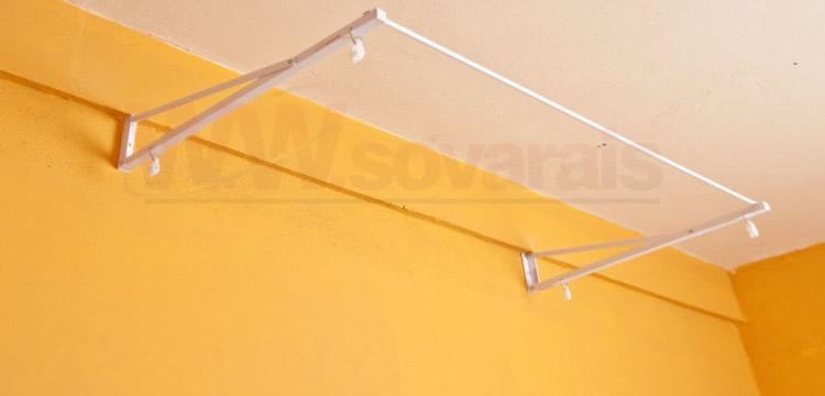 Suporte de varal para teto gesso | varais paulista | Acessórios para Varais